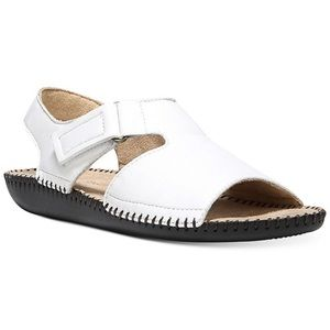 NEW Naturalizer Scout White Leather Sandals